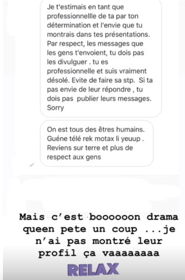 Screenshot-at-mars-22-10-31-38 Victime d'harcèlement, Léa Soukeyna Ndiaye divulgue les messages de…